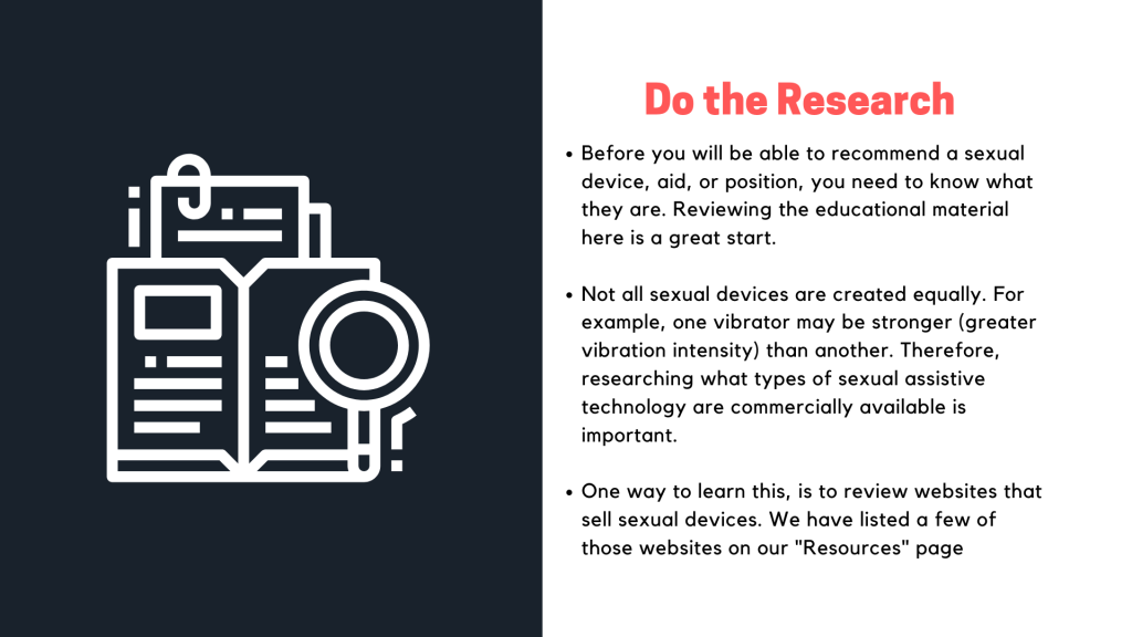 Presentation slide on the tip do the research.